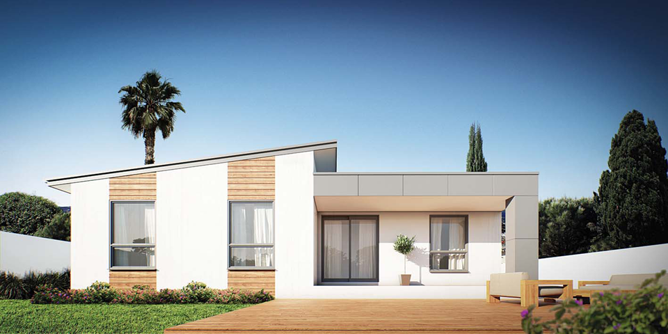 retreat modular home design render